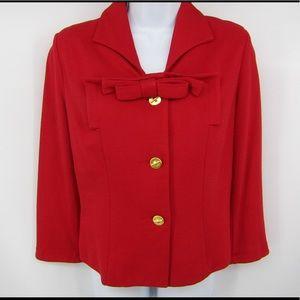 CAbi Beau lipstick red jacket style # 3035.